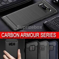 robuste ultra Anti-Choc Tpu CARBONE texturé Samsung Galaxy S8 S8+S7 COQUE