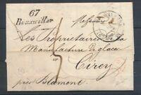 1834 Lettre cursive 67 Bouxwiller 35mm + CAD T12 SAVERNE BAS-RHIN(67) P4408