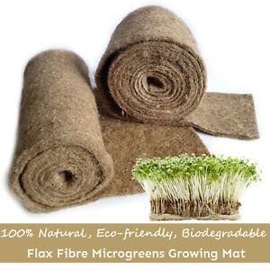 Natural Flax Fibre Felt Biodegradable Hydroponic Mat - Wheatgrass, Microgreens