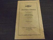 Vintage Chevrolet Mode D 'em Ploi / Réparation manual.1928.First Edition USA
