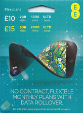 EE FLEX DATA Rollover Pay As You Go SIM card PAYG Nano Micro Standard Triple UK