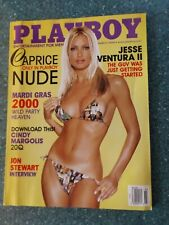 March 2000 Playboy Magazine with Caprice. Mardi Gras. Jesse Ventura.