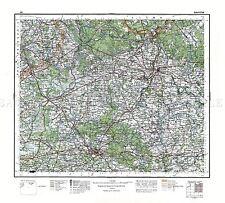 Mappa 1929 Militare Polacco bialystok area Polonia REPLICA poster stampa pam0465