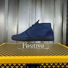Bally HERSHAL Blue Leather Mid top sneakers US 7.5