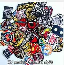 25 Wholesale Random Motif Iron On Embroidered Patch Patches Fabric DIY Applique