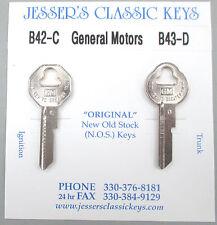 Original 1968 Chevrolet GM Keys B42-C B-43-D NOS Key Set '68 Chevy