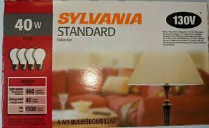 Sylvania-40W -130V -Medium Base- (Soft White) Frosted A19 Inc Light Bulb 12 Pack