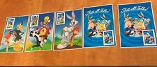 5 LOONEY TOONS Stamp SHEETS   1996, 1997, 1999, 2x 2000.  Mint
