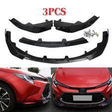 For Toyota Corolla 2019-2020 Front Bumper Lip Body Kit Spoiler Splitter 3PCS USA