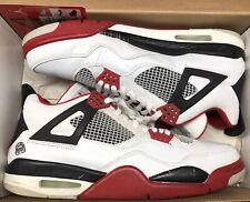 2006 Jordan Retro IV 4 Fire Red White Black Mars Blackmon Cement Sz 13