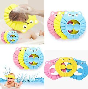 Adjustable Baby kids Shampoo Bath Shower Hat Cap Wash Hair Waterproof Ear Shield