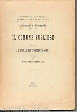 Carabellese F.; IL COMUNE PUGLIESE DURANTE LA MONARCHIA NORMANNO-SVEVA ; 1924