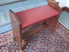 Antique Keyed Stretcher Fireside Bench Arts & Crafts Mission Craftsman Stickley
