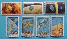 "Kambodscha: Michel-Nr. 560-566 ""Raumfahrt"" 1984, gestempelt"
