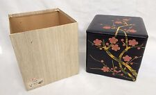 NEW vintage Japanese Aizunuri 3 tier wood jyubako jubako lacquered box (T1262)