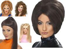 Women's 90's Spice Girls Girl Power Fancy Dress Wigs Set Hen Music Theme Party