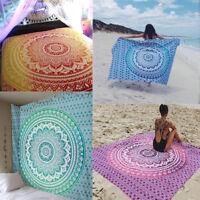 serviette de plage indian mandala tapisserie couverture mince tapis de yoga