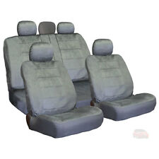 NEW FOR HONDA SEMI CUSTOM GREY VELOUR CAR TRUCK SEAT COVERS SET
