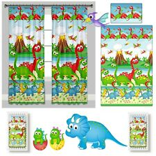 Dinosaurs Baby Kids Bedding Set Duvet Covers Curtains for Cot/ Cot bed/ Toddler
