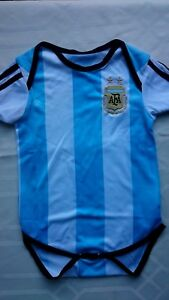 AAA+ 2018 ARGENTINA SOCCER BABY ROMPERS - SHORT SLEEVED JUMPSUIT