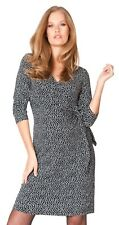 Seraphine Renatta 3/4 Sleeve Faux Wrap Maternity & Nursing Dress Size 8