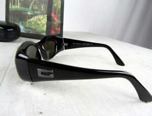 Gucci GG 2432/S 1UF 50x19 Designer Black Vintage Sunglasses G LOGO