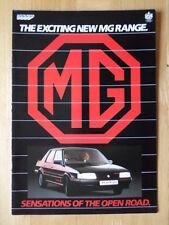 MG RANGE 1986-87 BROCHURE - METRO 1300 TURBO MAESTRO 2.0EFi MONTEGO EFi TURBO