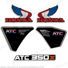 Honda 1985 ATC 350X Decal Kit Discontinued Decal Reproductions in Stock 350