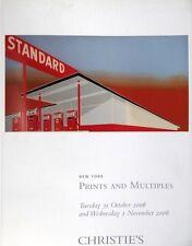 Catalogues vente Christie's Estampe Eau forte bois grave multiple Arnold Newman