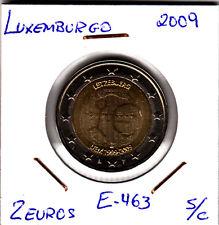 E729 MONEDA 2 EUROS SIN CIRCULAR 2009 LUXEMBURGO EMU
