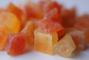 Papaya Crystallised Bulk 5 Kg Quality Food Dried Fruit Snack Mueslis Ingredients