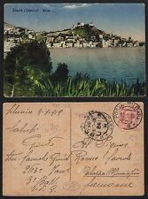 STORIA POSTALE Regno 1919 Cartolina da PM 78 Sebenico a Cremona (FILT)