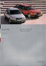 Audi 80 & 100 TDi Diesel 1994 UK Market Sales Brochure