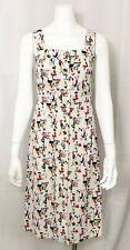 Lan Siang Dress Sundress Sleeveless Jumper Mid Century size Medium Vintage Retro