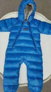 Patagonia Baby Hi-Loft Down Sweater Bunting Blue Size 6M (27241)