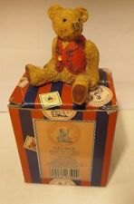 Penny Whistle Lane Enesco George - Bear with Red Vest Figurine #657980