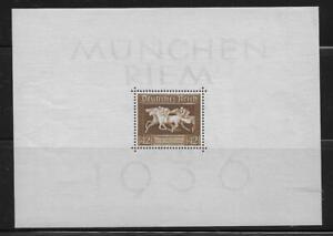 Germany Souvenir Sheet Mi# 621 Block 4 Brown Ribbon of Germany 1936 MH *