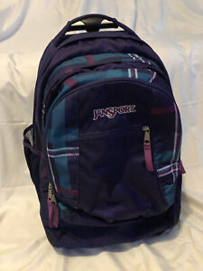 Jansport Driver 8 Core Series Wheeled Rolling Backpack TN89 Purple