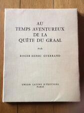 Livre Au Temps Aventureux De La Quête Du Graal Union Latine D'éditions