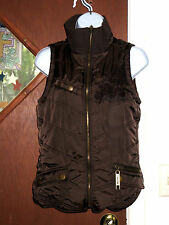 Maurices Puffer Vest Full Zip Women Sz S Dark Brown in Very Good Condition!