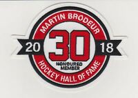 Martin Brodeur Hall Of Fame Patch New Jersey Devils Jersey #30
