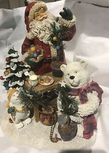 Pfaltzgraff Holiday Snow Bear 2008 Christmas Collectible Statue