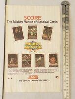 Mickey Mantle MLB Score RARE Print Advertisement