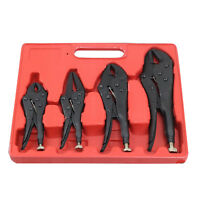 Pack of 4 X Heavy Duty Grip Wrench Set Vice Locking Lock Pliers Mole Grips Tool