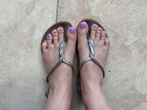 Well Worn Women's Scooter Silver Sandals