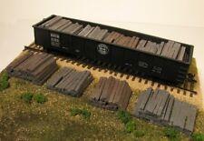 Monroe Models 2108 Weathered Railroad Tie Stacks    4/pkg    MODELRRSUPPLY-com