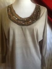 Charlotte Russe Woman's Gorgeous Beaded & Sequin Neckline Top Size M
