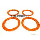 King Motor New Style Orange HD Plastic Beadlocks Set of 4 HPI Baja 5B 5T 5SC 2.0