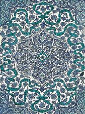Iznik Turkey late 16th pattern Tile Mural Kitchen Backsplash Ceramic 12.75x17