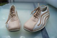 RIEKER Damen Sommer Schuhe Comfort Schnürschuhe leicht & bequem Gr.38 Leder NEU